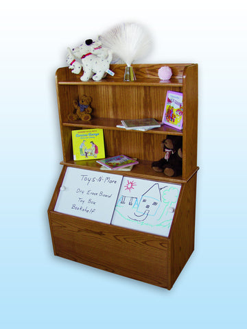Toy Box with Bookshelf