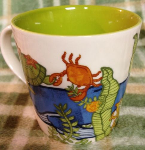 Starbucks Ocean Adventure Coffee Mug ClownFish Submarine Whale Turtle Crab Fish