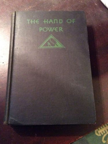 rare 1930 1st edition The Hand Of Power Edgar Wallace Mystery League art deco