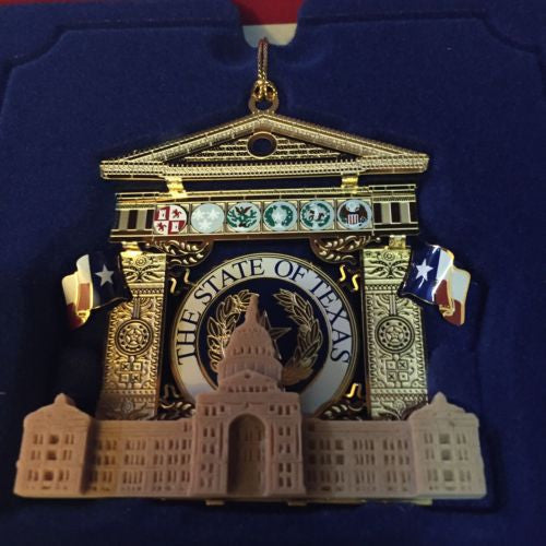 minty 2010 TEXAS official state capitol christmas ornament