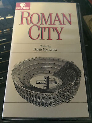 Roman City [VHS] David Macaulay > shipping is included in price!