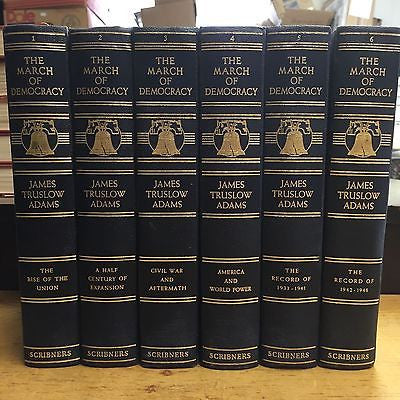 History of America to 1949 March of Democracy 1932 John Truslow Adams 6 Volumes