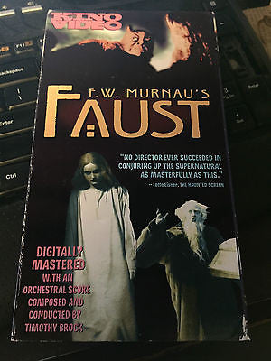 Murnau's Faust 1926 b/w German silent subtitles [VHS] shipping included!