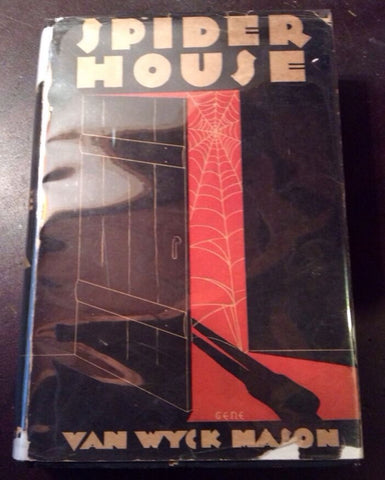 1932 1st Edition Spider House Van Wyck Mason Mystery League Inc Art Deco