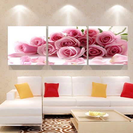 Yellow orchid pictures painting canvas on the wall of the living ...