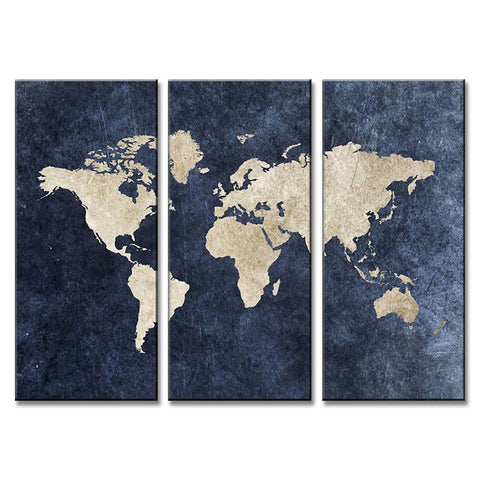 Abstract navy blue world map canvas print jubilant walls abstract navy blue world map canvas print gumiabroncs Image collections