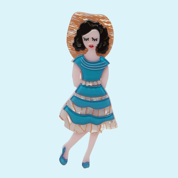 Rockabilly Queen Brooch ~ Erstwilder
