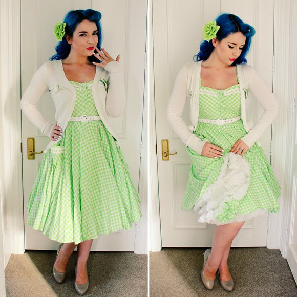 Green Gingham Lindy Bop