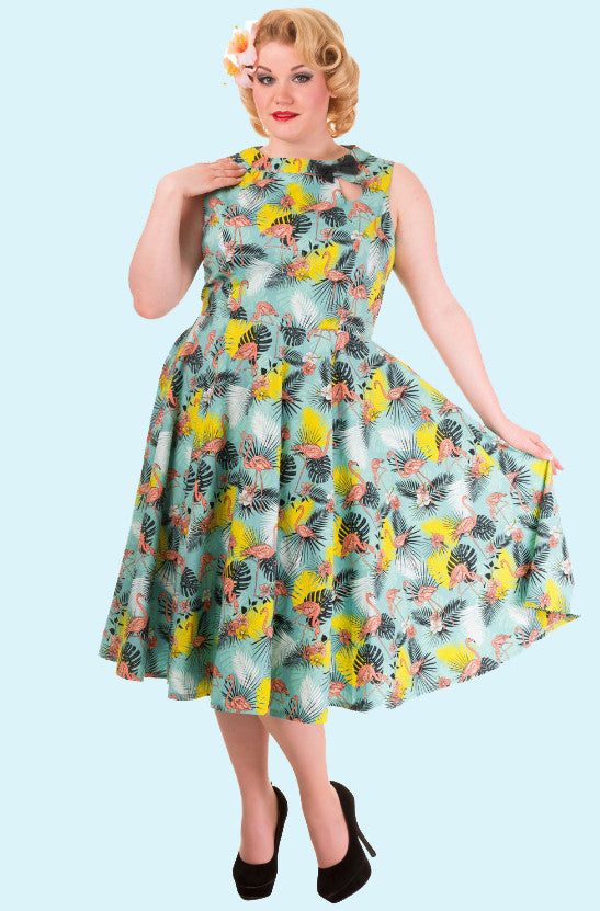 Wonderlust Flamingo Dress + Size