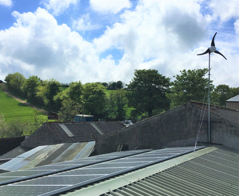 6KW Inverter  Charger System Powering farm in Cornwall, United Kingdom. Using Solar and Wind Energy.