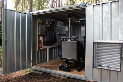 Off Grid renewable Containerized installation