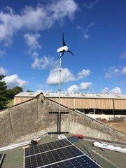 Wind and sun power solution