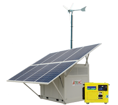 solar wind and gen-set containerised system