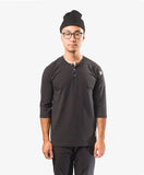Crew Apparel All Day Henley chef shirt Black
