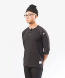 CrewTech All Day Henley chef shirt Black