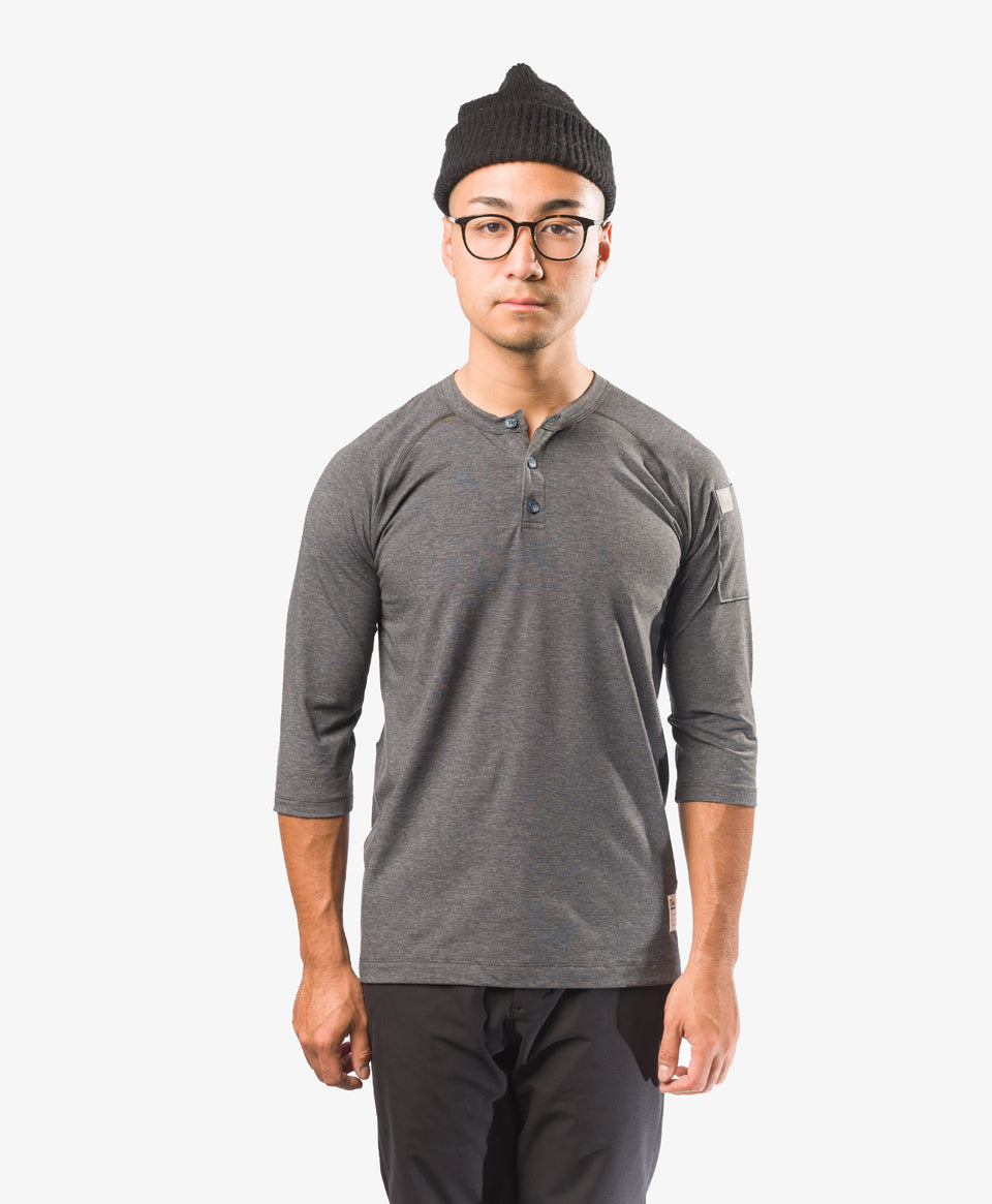 Crew Apparel All Day Henley Grey