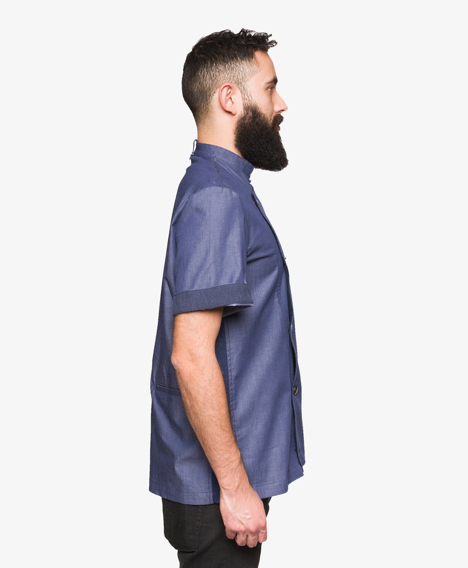 Crew Tech Hipster Denim Chef Coat 2 Way Stretch