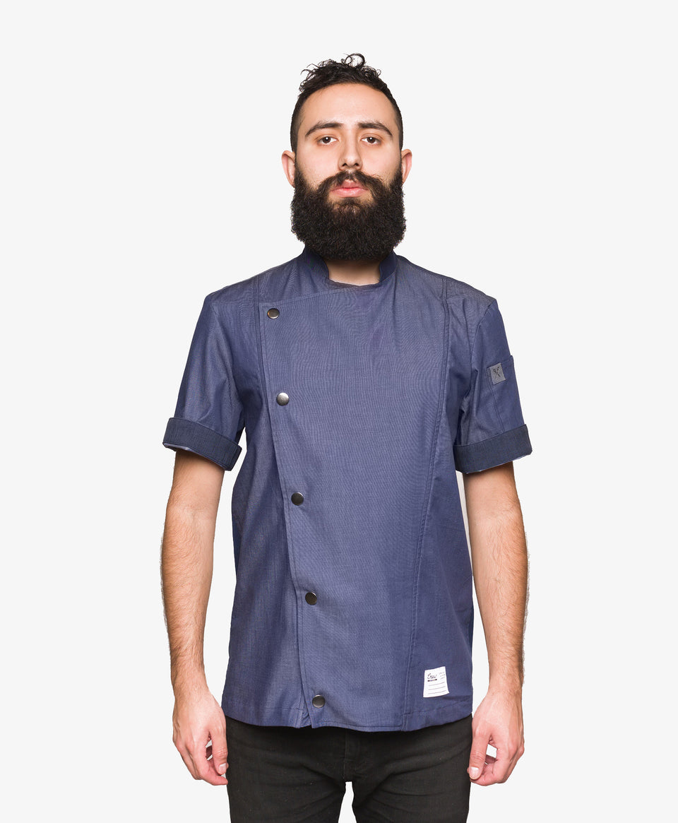Crew Tech Hipster Denim Chef Coat