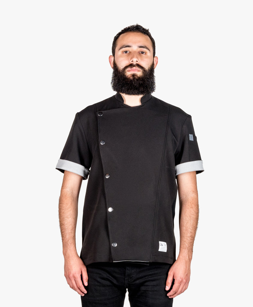 Crew Tech Hipster Chef Coat Black