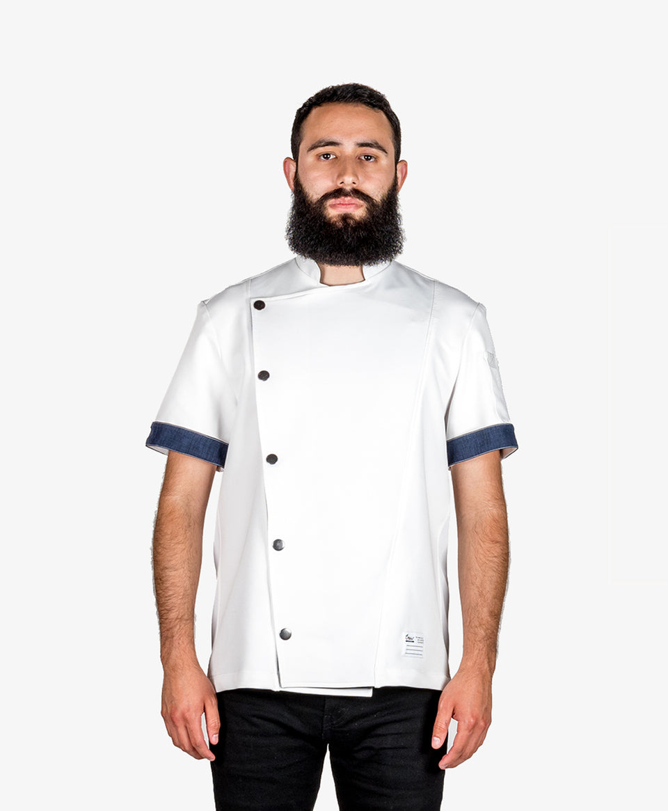 Chef jacket white professional kitchen coat Crew Apparel