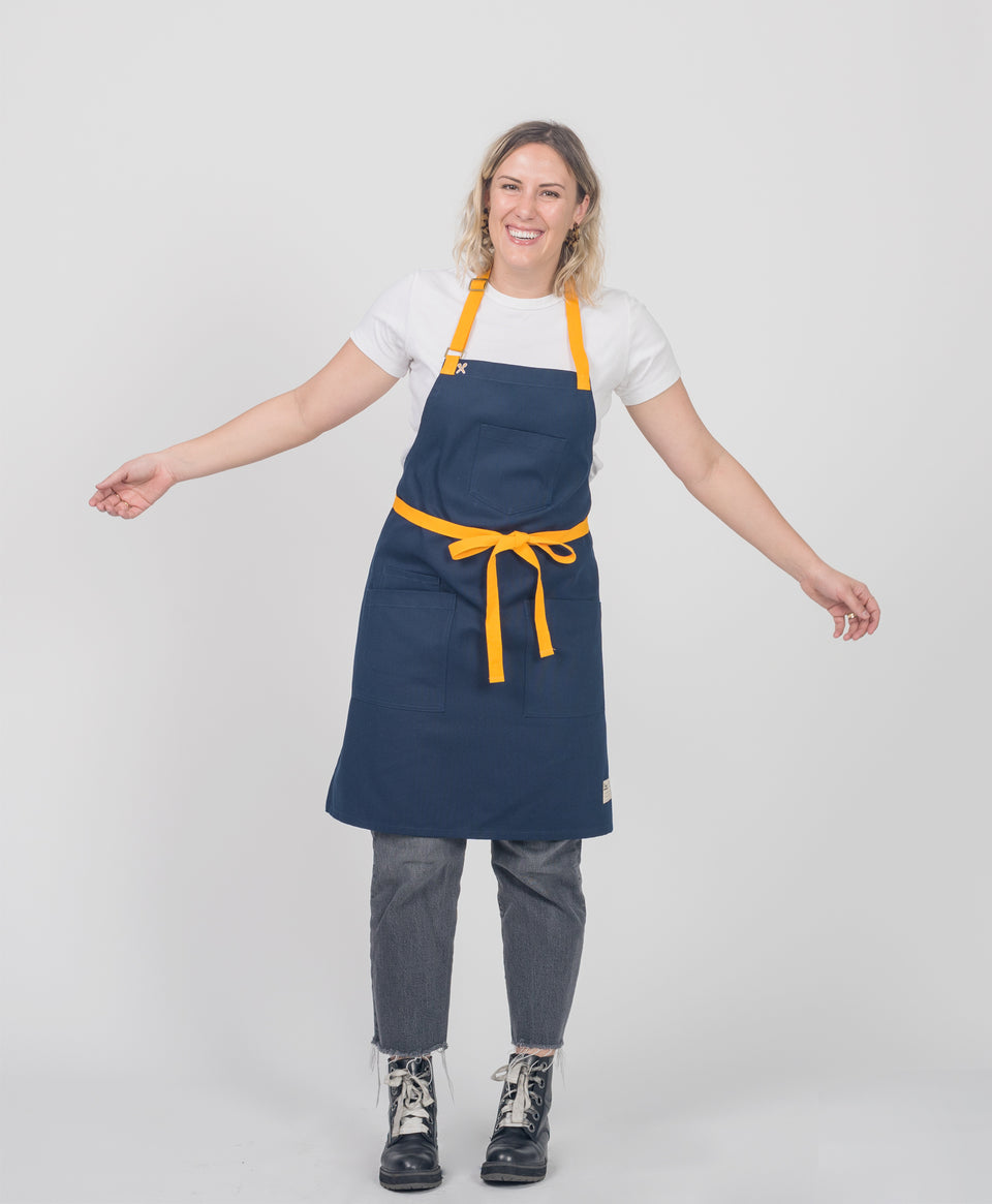 Crew Apparel handmade Navy Apron Japanese Canvas