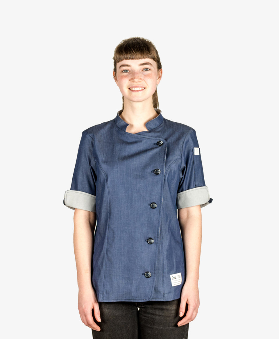 CrewTech The Stephany Women's Chef Coat Denim