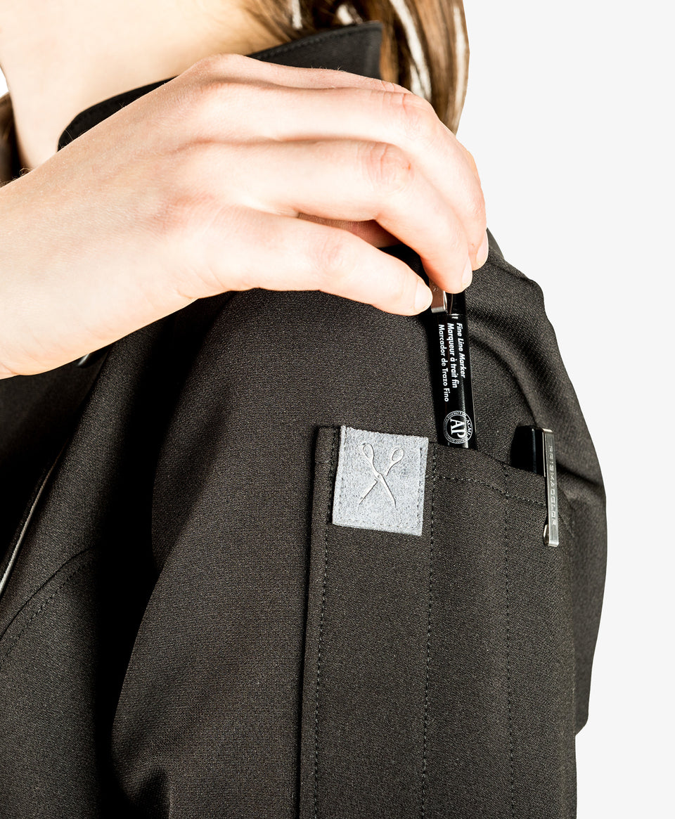CrewTech The Stephany Women's Chef Coat Sleeve Pocket