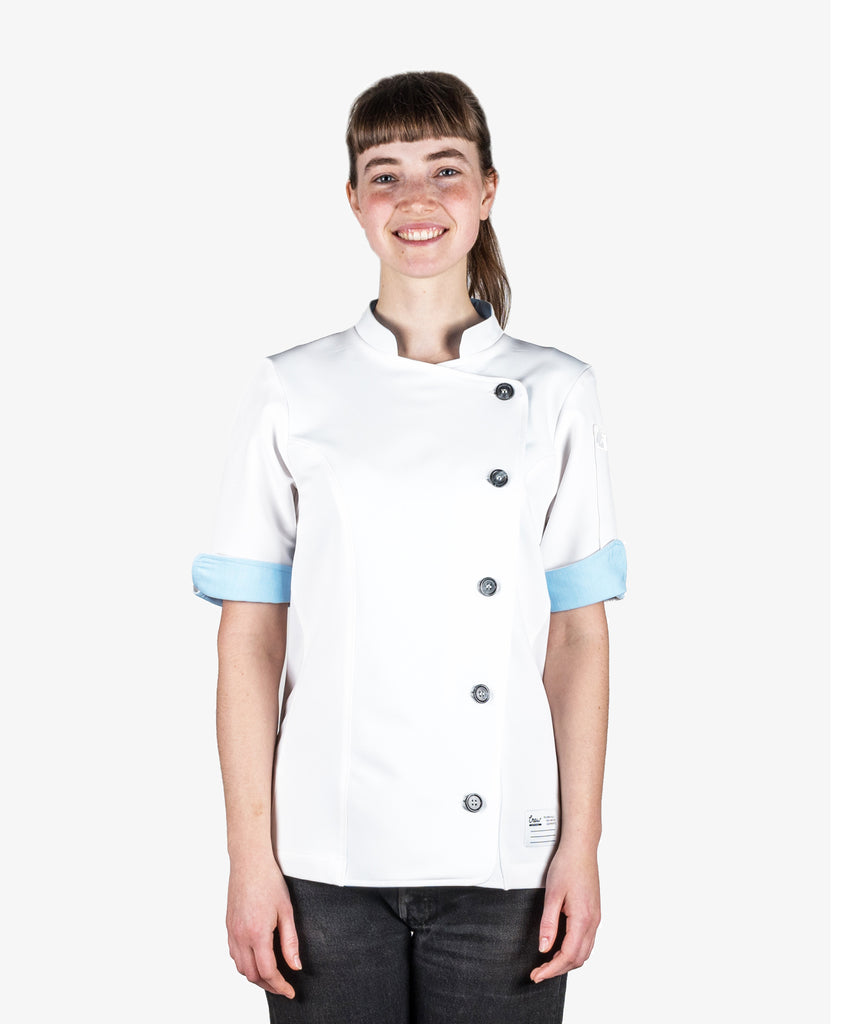 CrewTech The Stephany Women's Chef Coat White