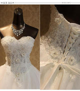 White Lace Wedding Ball Gowns At Bling Brides Bouquet- Online Bridal Store