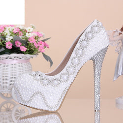 White diamond heel wedding shoes  Bridal  wedding  pumps
