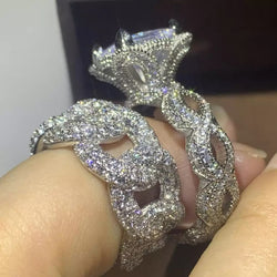 Vintage Wedding Ring set  – Bling Brides Bouquet - Online Bridal Store