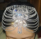 Silver Tiara Bridal Headpiece Bridal Crystal Hair Jewelry