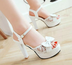 Bling Bridal platform  Heels. Wedding high heel  Pumps