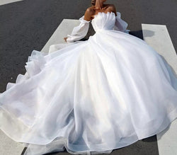 Backless Beach Bridal gown Princess Wedding Dress