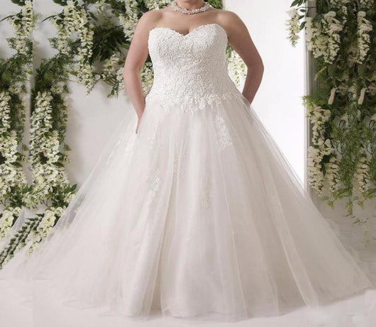 Plus Size corset Wedding Dresses  at Bling Brides Bouquet - Online Bridal Store