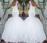 Beaded Mermaid Bridal Gown with Lace-up Back At Bling Brides Bouquet - online Bridal Store