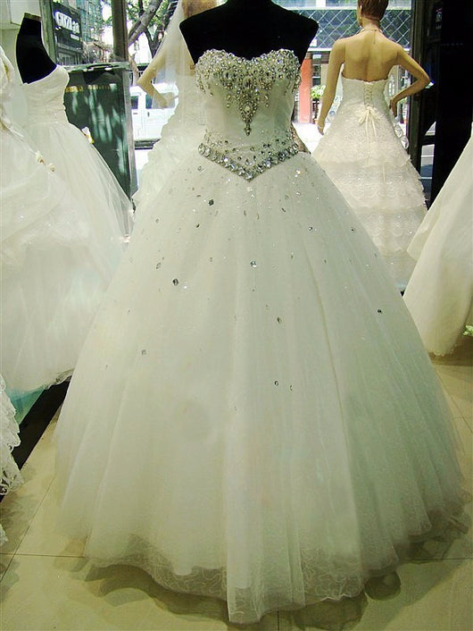 Crystal Wedding Dress At Bling Brides Bouquet - Online Bridal Shop