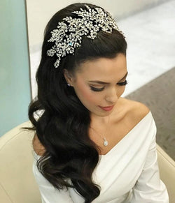 Large Royal Wedding Bridal  Crown Tiara Fashion bridal Hairband