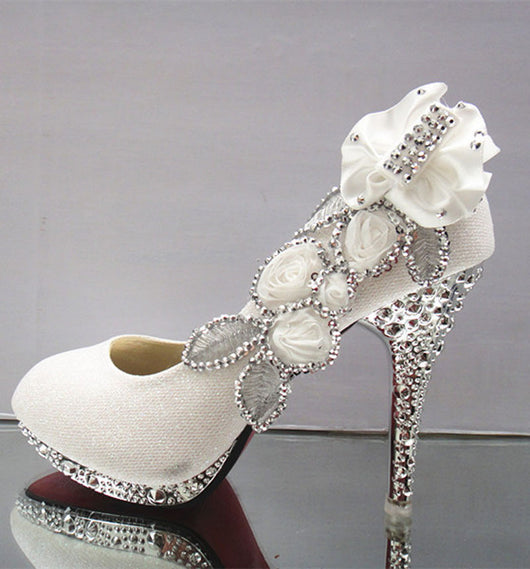 Wedding Shoes Rhinestone Glitter Shoes At Bling Bries Bouquet   Online  Bridal Store