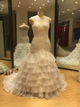 Organza Ruffle Wedding Dress At Bling Brides Boquet online bridal store
