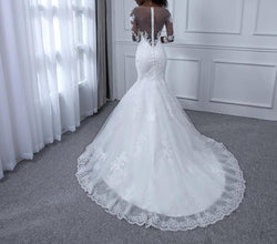 Bling Mermaid Pearls Lace Wedding Dresses Sexy Sweetheart Wedding Gowns Bridal Wedding Dress