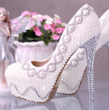 White diamond heel wedding shoes  Bridal  wedding  pumps in white or ivory