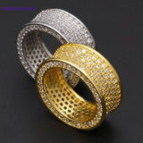 Stainless Steel Bling Wedding Ring Cubic Zirconia  Iced Out High Quality CZ Rings for Women & Men