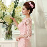 Lace and Chiffon Bridesmaid Dresses at Bling Brides Bouquet -Online Bridal Store
