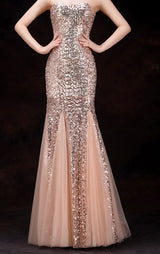 Sparkling sequined Lace up Bridesmaid Dresses at Bling Brides Bouquet online Bridal Store