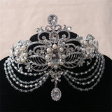 Bling Water Drop Bridal tiaras Head Crown hair accessories for bride