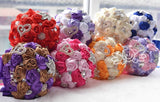 Bling Silk wedding bouquets crystal bridal wedding bouquets for Bride