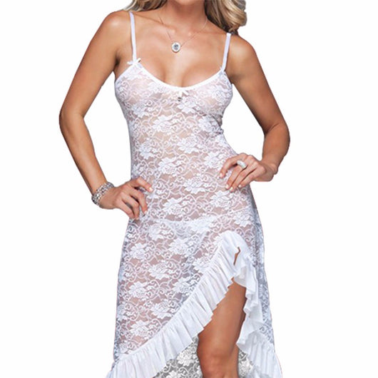 Plus Size  bridal Lingerie Babydoll Chemise  Long  Night gown