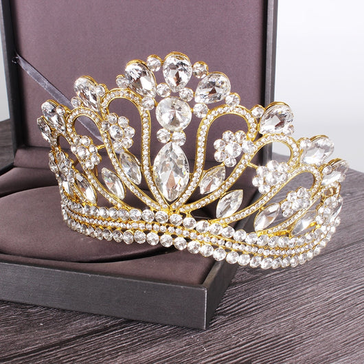 Bling Wedding Crown Crystal Bridal Tiara Crowns With Comb