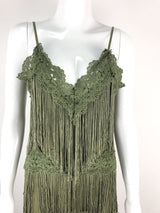 Fringed  womens wedding jumpsuit tassel tiered sexy lace jumpsuit